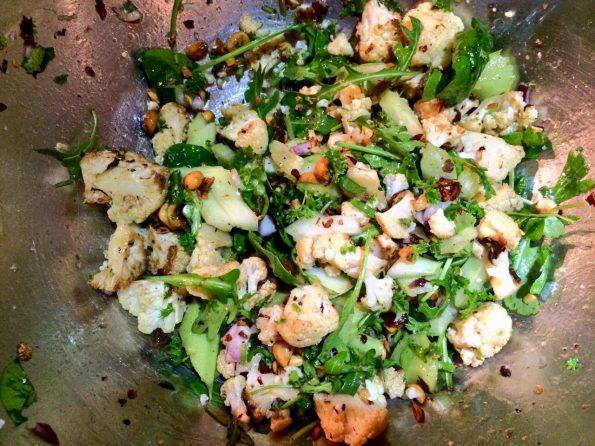cauliflower and walnut salad