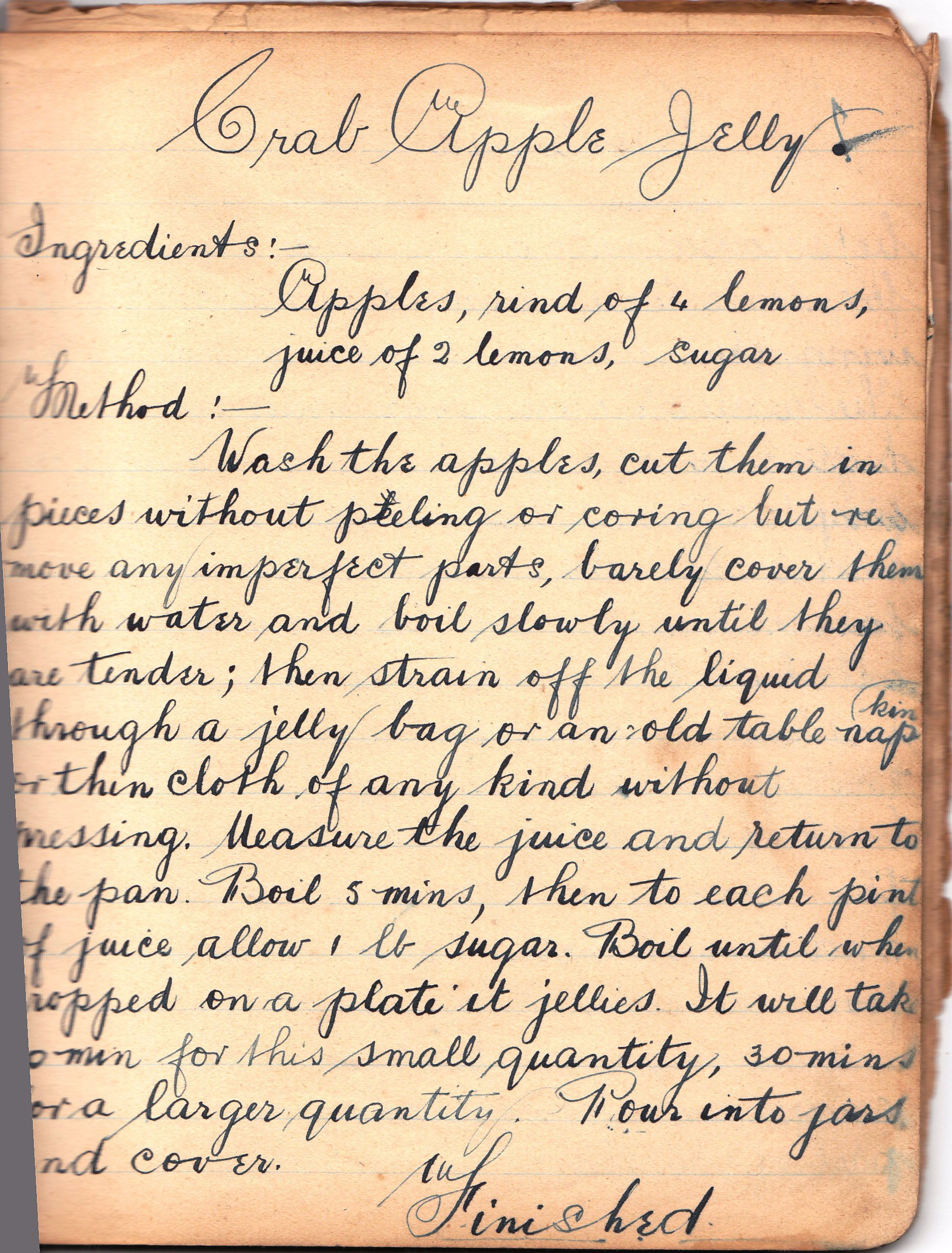 old recipe for crab apple jelly - Apple Jelly Recipes